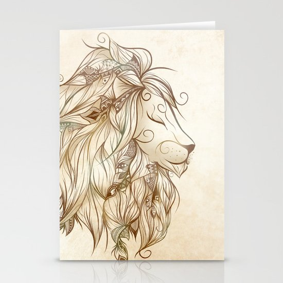 Poetic Lion Stationery Cards