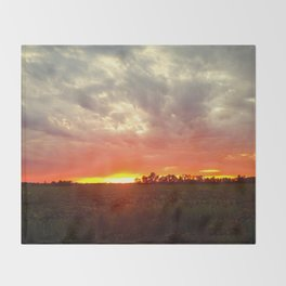 Chasing fire       (Curtain panel #2) Throw Blanket