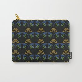 Black Wheat Floral Carry-All Pouch