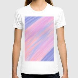 Modern violet pink watercolor brushstrokes stripes T-shirt