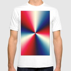 Red, White & Blue MEDIUM Mens Fitted Tee White