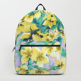Floral Print Tropical Yellow Backpack