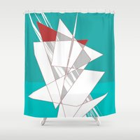 sailing Shower Curtains featuring Sailing by Chuck Buckner