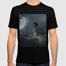 There's A Moon Out Tonight Black MEDIUM Mens Fitted Tee