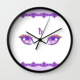 Sailor Saturn Eyes Wall Clock