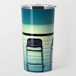 Blue Bar Stools Travel Mug