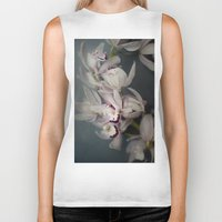 orchid Biker Tanks featuring Orchid by Pure Nature Photos