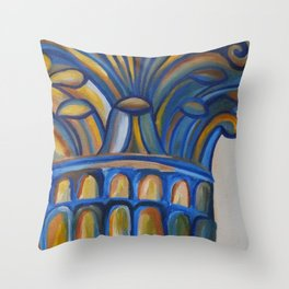 Greek Column Throw Pillow
