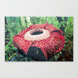 Exotic Giant Flower Canvas Print