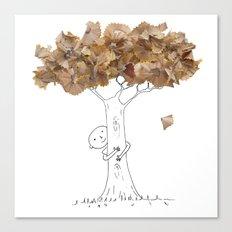 Pencil shavings tree Canvas Print