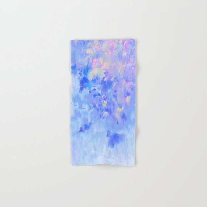 Blue Leaves under a Lavender Sky Hand & Bath Towel