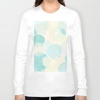 shells Long Sleeve T-shirts featuring Shells by Karen Hischak