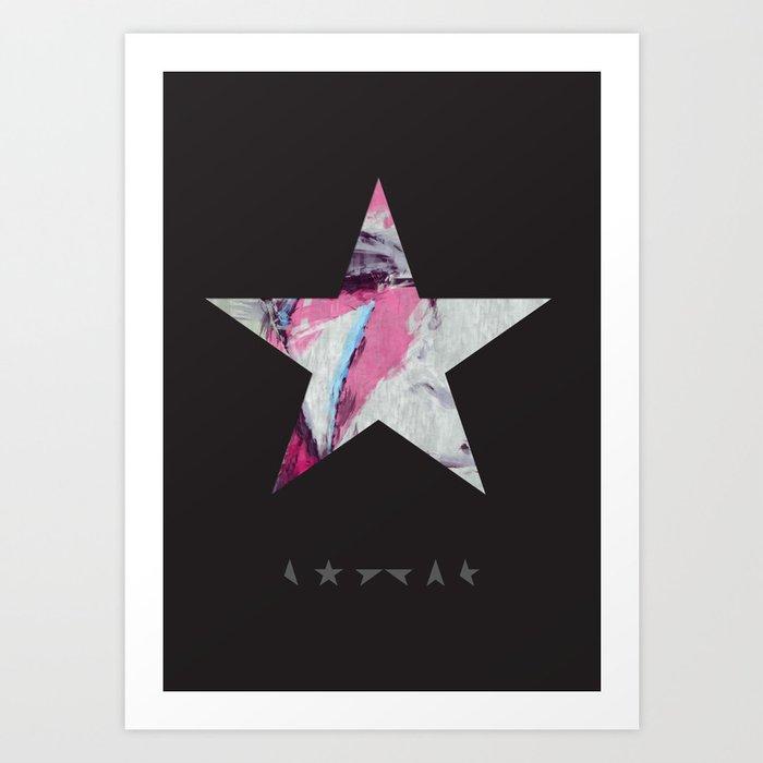 David Bowie Print. Blackstar Ziggy Stardust Print Art Print
