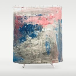 Abstract in Grey Shower Curtain
