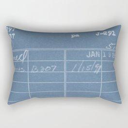 Library Card 797 Negative Blue Rectangular Pillow