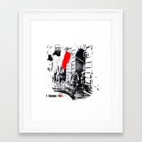 poland Framed Art Prints featuring Warsaw Uprising, Poland - 1944 by viva la revolucion