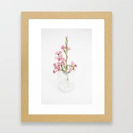 Wax Flower Framed Art Print