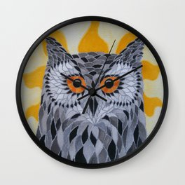 Sunshine Owl Wall Clock