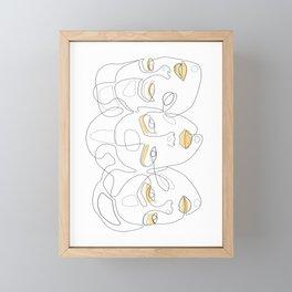 Lemon Portraits Framed Mini Art Print