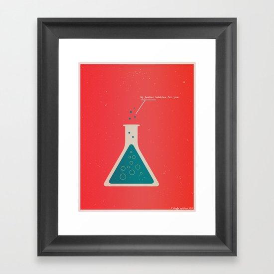 My Beaker Bubbles For You  Framed Art Print