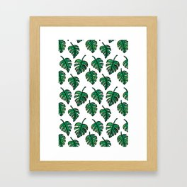 GREEN PLANTS Framed Art Print