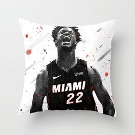 Jimmy Butler Basketball Print Basketball Wall Art Basketball Poster Basketball Wall Decor Poster Throw Pillow