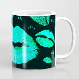 Kisses All Over (Green) Coffee Mug