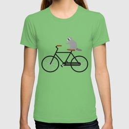 Raccoon Riding Bike T-shirt