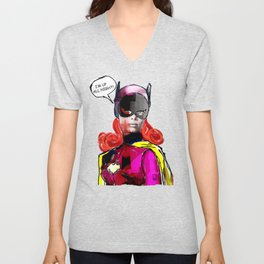 Batgirl Unisex V-Neck