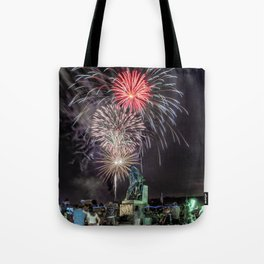 Fourth Of July Fireworks Gloucester Tote Bag