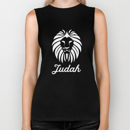 The Lion From The Tribe of Judah Biker Tank