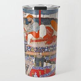 16th Century India Watercolor Painting Travel Mug