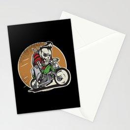 Skull Motorcyclist Stationery Cards