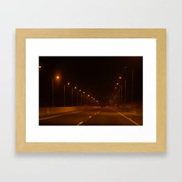 Driving to the lowest point on earth: The Dead Sea Framed Art Print
