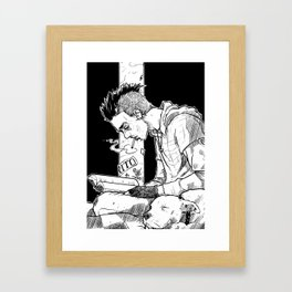 Streets and Words Framed Art Print