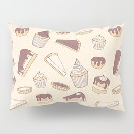 Chocolate Pastry Pattern Pillow Sham