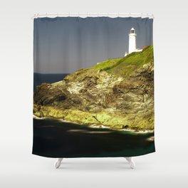 Trevose Head Lighthouse, Cornwall, United Kingdom Shower Curtain