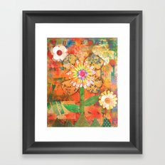 Flower Power Framed Art Print