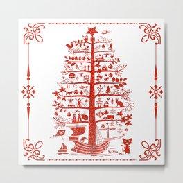 Christmas Tree Ship Metal Print