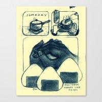 mom Canvas Prints featuring mom by Maré Odomo