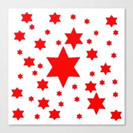 JULY 4TH  RED STARS DECORATIVE DESIGN Canvas Print