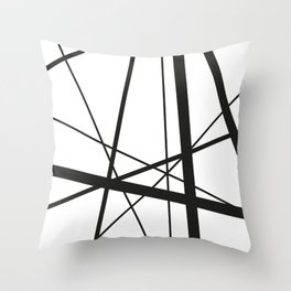 Mikado Sticks - stripes white Throw Pillow