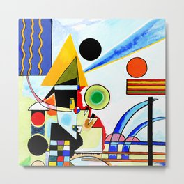 Tribute to Kandinsky Balancement Metal Print