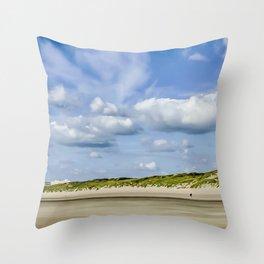 Beach Touquet sky Throw Pillow