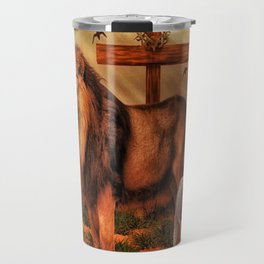 The Lion And The Lamb Travel Mug