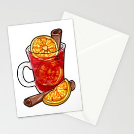 Mulled Wine Cartoon Gift Present Orange Juice cinamon cinnamon Stationery Cards