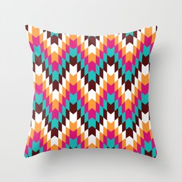 Tribal Chevron II Throw Pillow