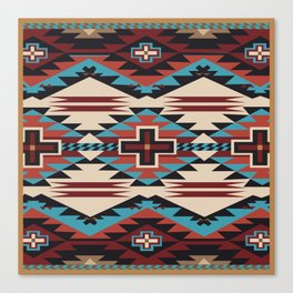 American Native Pattern No. 67 Canvas Print