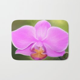 Painted Orchid Bath Mat