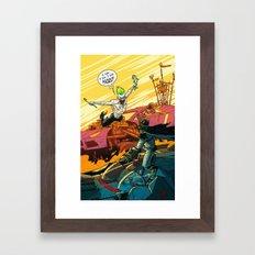Bat Man: Fury Road Framed Art Print